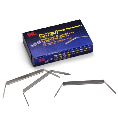2' Capacity Prong Fasteners (Officemate Premium Prong Fasteners, Base Only, 2 inch Capacity, 2.75-Inch Base, Box of 100 (99714))