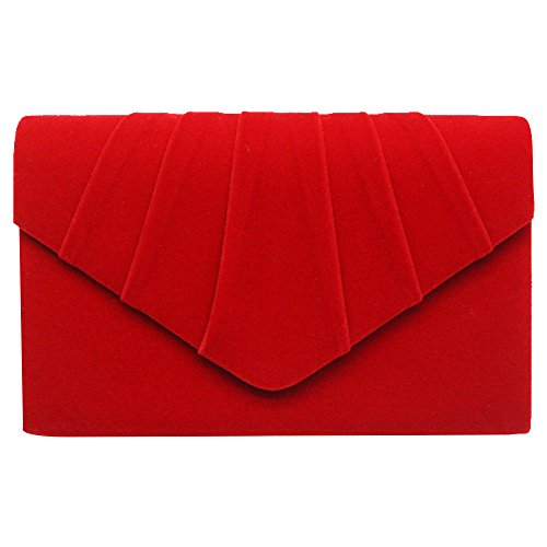 Wiwsi Sell Lady Formal Party New Purse Clutch Pleated Design Shoulder Chain Bag