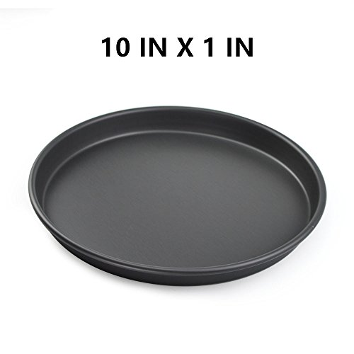 10'' Pizza Pan, Deep Dish Non-Stick Hard Coating Microwave Crispers Commercial Grade Kitchen Baking Tray, Round Cake Baking Pans by SHANGPEIXUAN