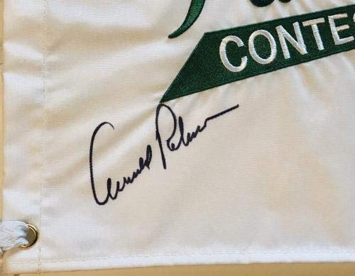 Arnold Palmer Jack Nicklaus Player signed Masters golf flag par 3 big 3 PSA/DNA Certified Autographed Pin Flags