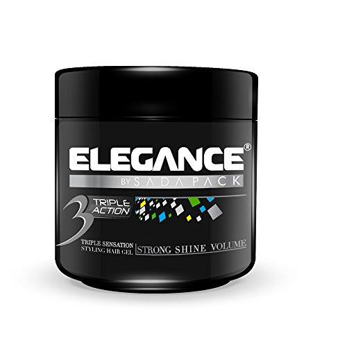 Price comparison product image Elegance Triple Action Hair Gel, Silver, 500ml/17.6OZ