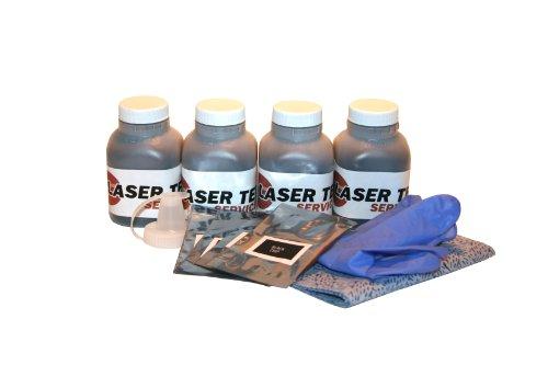 B2400 Laser Printer (Laser Tek Services ® 4 Pack Toner Refill Kit with reset chips for the Okidata B2200 B2200n B2400 B2400n 43640301)