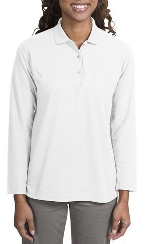 port-authority-ladies-silk-touch-long-sleeve-sport-shirt-white-m-apparel
