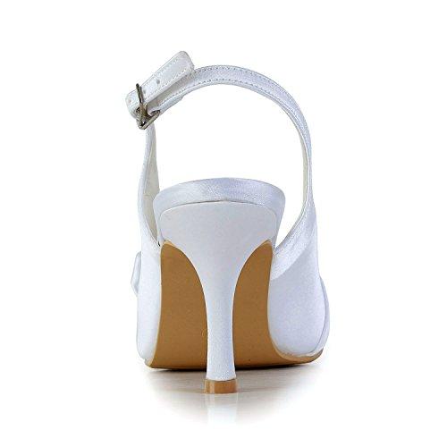 Sandales pour femme Heel Minitoo blanc 8cm White 7dq445wz