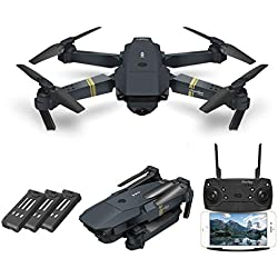 EACHINE E58 WiFi FPV Foldable Drone with 120° 720P HD Camera, One Key Take Off/Landing, 3D Flips, APP Controlled