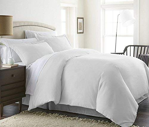 Bed Alter 1000 Thread Count Luxurious 100% Egyptian Cotton Duvet Cover (Duvet Cover Zipper Closure) Solid (White, Twin)