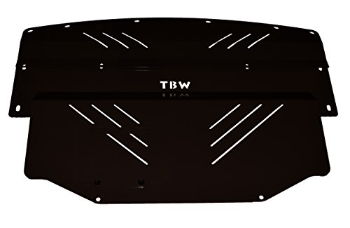 Engine Guard Skid Plate (BLACK TBW Aluminum Under Tray for Infiniti G35 & Nissan 350Z - Engine Skid Plate)