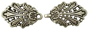 Chariot Clasp, Antique Silver Finish