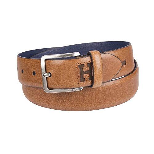 Brown Designer Belts - Tommy Hilfiger Men's Casual Belt, tan Suede, Large