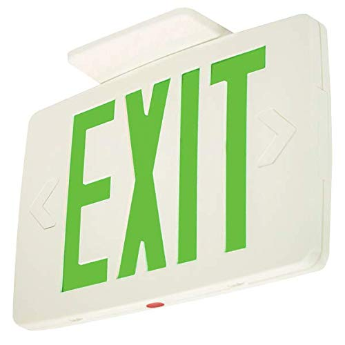 LFI Lights - Hardwired Super Thin LED Exit Sign - Double Sided - Green LED - Battery Backup - LEDTGD by Light Fixture Industries (Image #1)