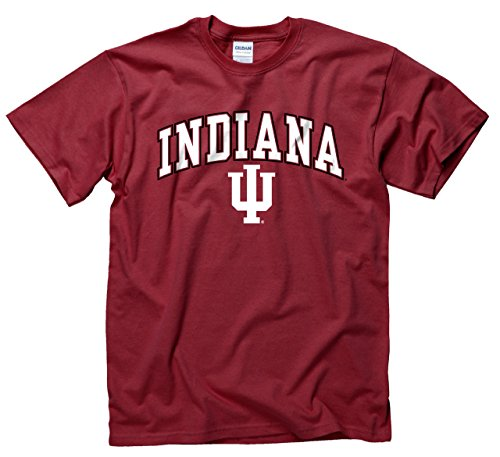 Campus Colors Indiana Hoosiers Arch & Logo Gameday T-Shirt - Cardinal, ()
