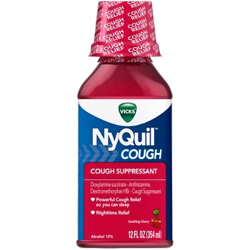 NYQuil Cough Nighttime Relief Cherry Flavor (Pack of 2)