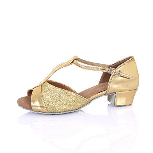 Girl Dance Shoes Dance Dance K Soft Latin Girls Middle Shoes Latin Shoes Bottom Heels ' Sandal GUOSHIJITUAN Ballroom AdxwzUqUnE