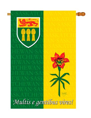 Breeze Decor - Saskatchewan Flags of the World - Everyday Canada Provinces Impressions Decorative Vertical House Flag 28