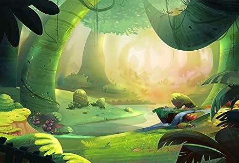amazon com leowefowa enchanted forest backdrop 9x6ft vinyl