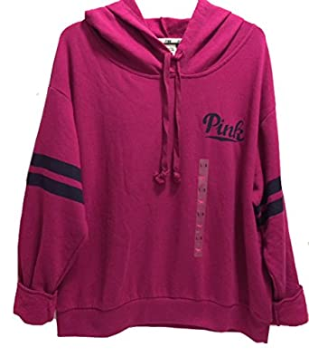 Victoria's Secret Women's PINK Fleece pullover Hoodie Large Red ...