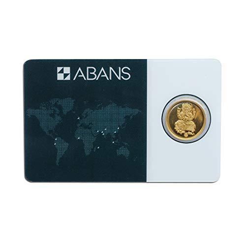 Abans Gold Coin Ganpati And Abans 1gm 24KT 995