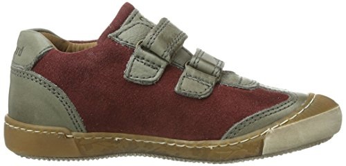 Bisgaard Schuh mit Klettverschluss Unisex-Kinder Sneakers Rot (86 Bordo)