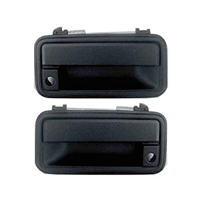 Exterior Door Handles for C/K FULL SIZE PICKUP 88-02 Set of 2 Front Left and Right Side Plastic bezel metal lever Textured Black W/Keyhole: Automotive