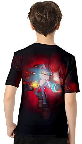 Silver-Basic-Camiseta-Deportiva-para-Ninos-con-Sonic-The-Hedgehog-Grafico-de-Dibujos-Animados-Impreso-en-3D-Top-de-Verano-Sonic-The-Hedgehog-Ropa-para-Ninos-y-Ninas