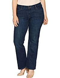 Women's Plus-Size 415 Classic Bootcut Embroidery Jeans