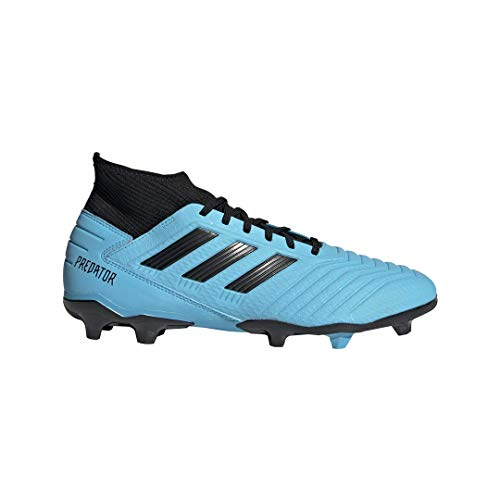 adidas Men's Predator 19.3 Firm Ground Soccer Shoe, Bright Cyan/Black/Solar Yellow, 10.5 M US (The Best Soccer Shoes Ever)