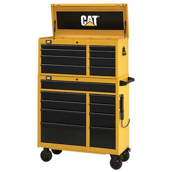 """Cat 41"""" Tool Chest and Cabinet Combo"""