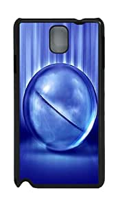 Dark blue ball Custom Samsung Galaxy Note 3 N9000 Case Cover ¨C Polycarbonate ¨CBlack