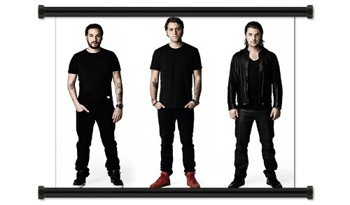 Swedish House Mafia EDM DJ Trio Fabric Wall Scroll Poster (32