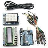 SainSmart® C17 Kit with UNO + LCD Keypad Shield + Prototype Shield + Breadboard + Jump Wires for Arduino UNO R3 MEGA Mega2560 Nano DUE Duemilanove AVR ATMEL Robot XBee ZigBee