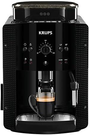 Krups Roma EA81M8 Cafetière expresso superautomatique 1,7 L, 3 niveaux de température, 3 textures de broyage, noir