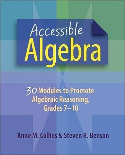Accessible Algebra: 30 Modules to Promote Algebraic Reasoning ...