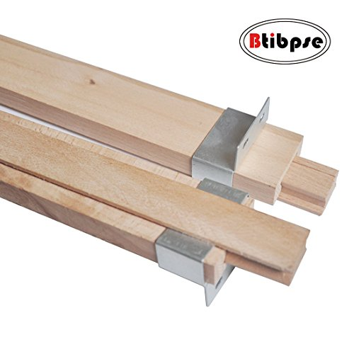Btibpse Wooden Drawer Slides 16 Inches Classic Wood Center Guide Track with Slide Glides (1 - Store Wooden Wood