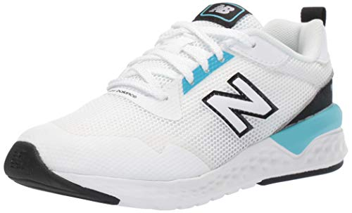New Balance Boys' 515v2 Running Shoe, White/Bayside, 6 M US Toddler