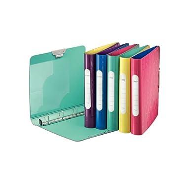 Leitz Active Flash - Archivador, A4, PP, 4 anillas, 30 mm, colores surtidos: Amazon.es: Oficina y papelería
