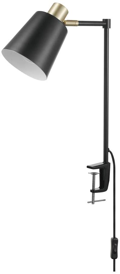 Globe Electric 52900 Lex Desk Lamp, Black and Gold