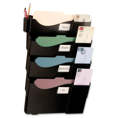 - Wholesale CASE of 5 - Officemate Grande Central Filing System-Starter Filing System,w/4-Pockets,16-5/8