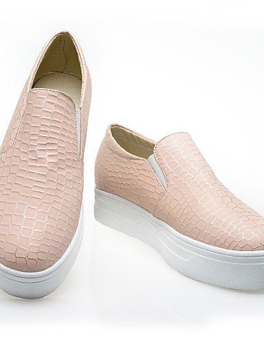 Semicuero Eu39 Bajo Cn39 us8 Rosa Casual Blue Zapatos Blanco Azul Redonda Gyht Negro Punta Pink Zq Tacón Mocasines Mujer Uk6 De us8 XfqvnwHT1