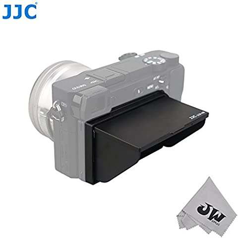 JW LCH-A6 LCD Pop-up Hood Protector Case Screen Cover Shade for Sony A6300 A6000 ILCE-6300 ILCE-6000 a6300 a6000 Cameras + JW emall Micro Fiber Cleaning Cloth