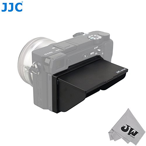JW LCH-A6 LCD Pop-up Hood Protector Case Screen Cover Shade for Sony A6300 A6000 ILCE-6300 ILCE-6000 a6300 a6000 Cameras + JW emall Micro Fiber Cleaning Cloth (Digital Screen Shade)
