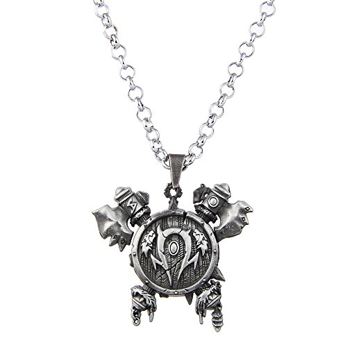 Lureme Vintage Jewelry World of Warcraft 3D Horde Signs Necklace for WOW Fans-Silver (nl005612-2)
