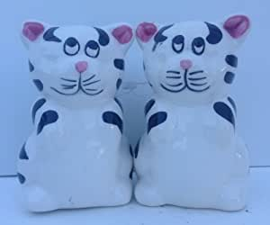 Black and White Striped Salt and Pepper Shaker