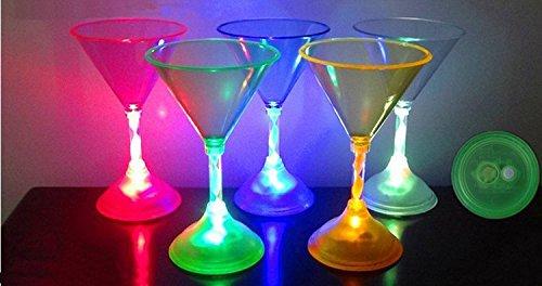 Led Martini Glasses (Party Lovers Assorted Led Martini Glasses(4)