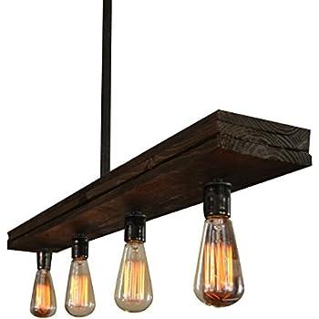 Recessed Wood Beam 5 Lights Amazon Com