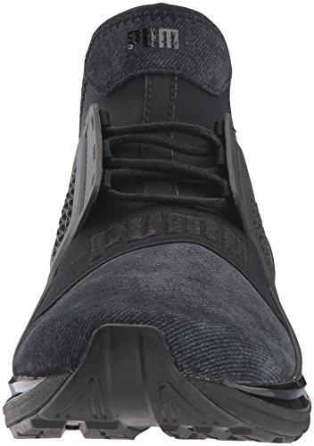 Ignite M Sneaker Men's Brushed Suede Limitless Black 7 US Silver PUMA wHq64