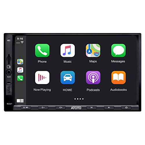 ATOTO in-Dash Double Din Digital Media Car Stereo – SA102 Starter YS102SL CarPlay & Android Auto Receiver – Phone…