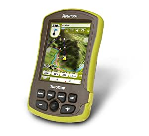 Twonav Aventura - GPS, mapa UK, color verde/ marrón [Importado de Inglaterra]