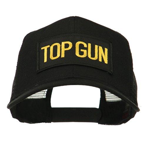 Top Gun Hat (Top Gun Military Patched Mesh Back Cap - Black OSFM)