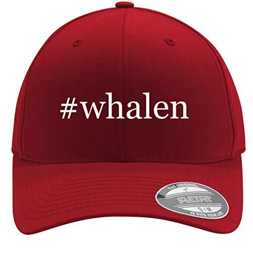 #Whalen - Adult Men's Hashtag Flexfit Baseball Hat Cap, Red, Small/Medium