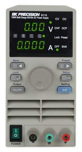 B&K Precision 9110 Multi Range DC Power Supply, 100W, 5A, 60V ()